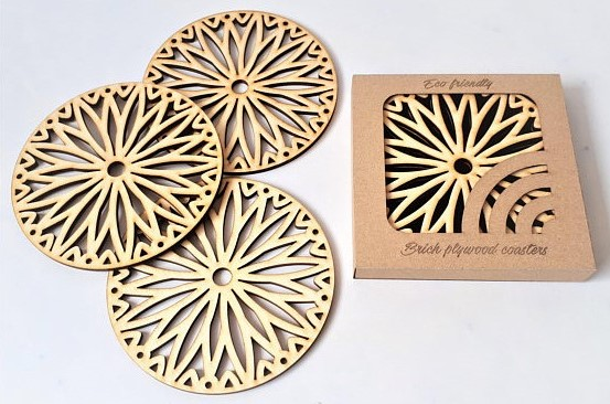 Plywood laser cutting