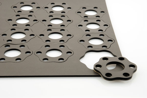Rubber laser cutting